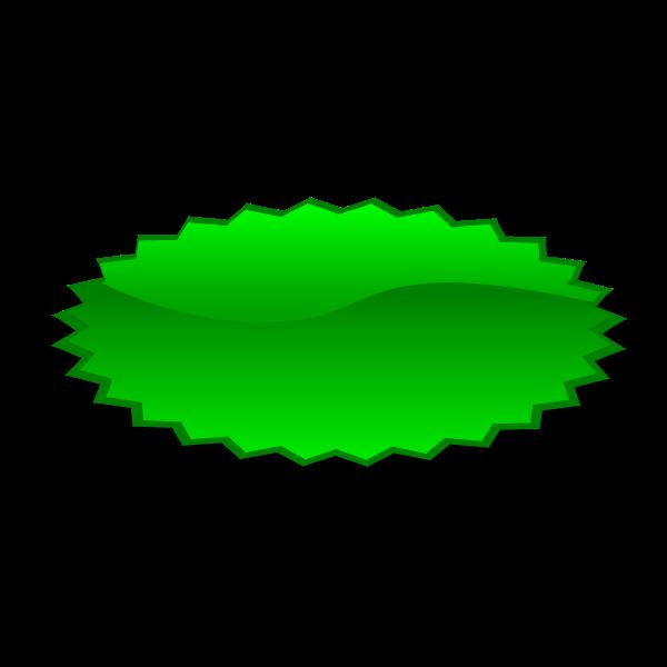Oval shaped green star vector illustration