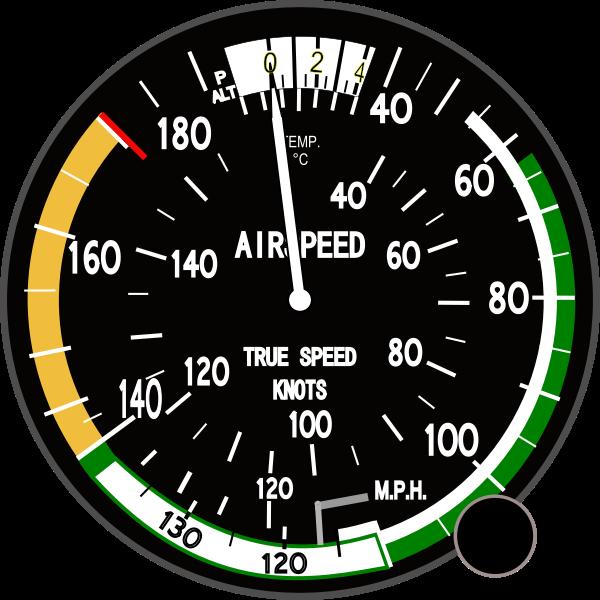 True airspeed indicator