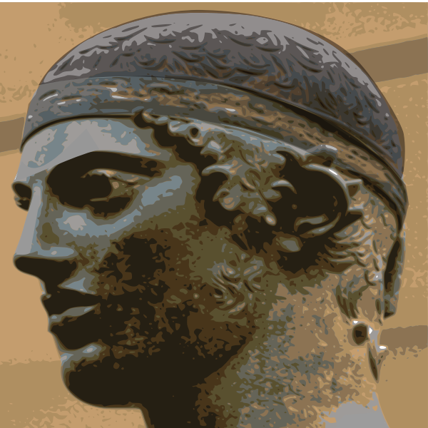 The Charioteer of Delphi vector image