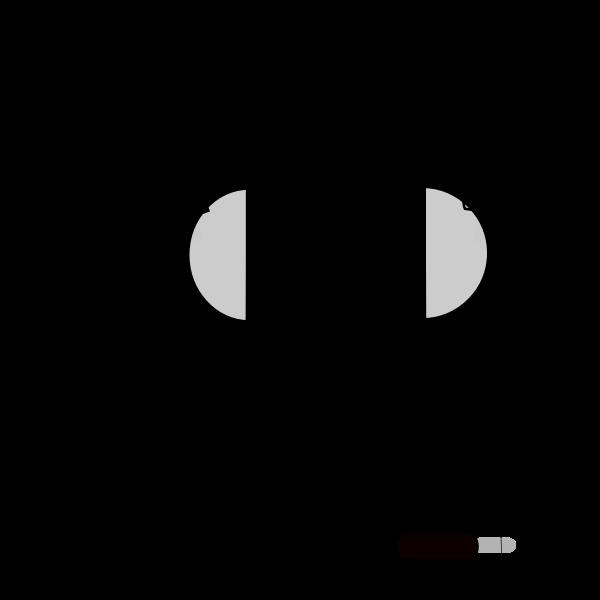 Vector graphics of headphones