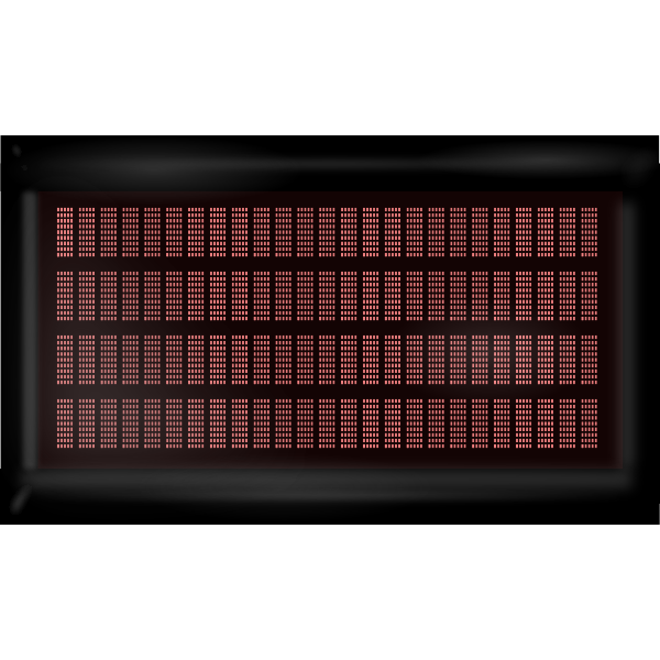 Red LCD monitor vector clip art