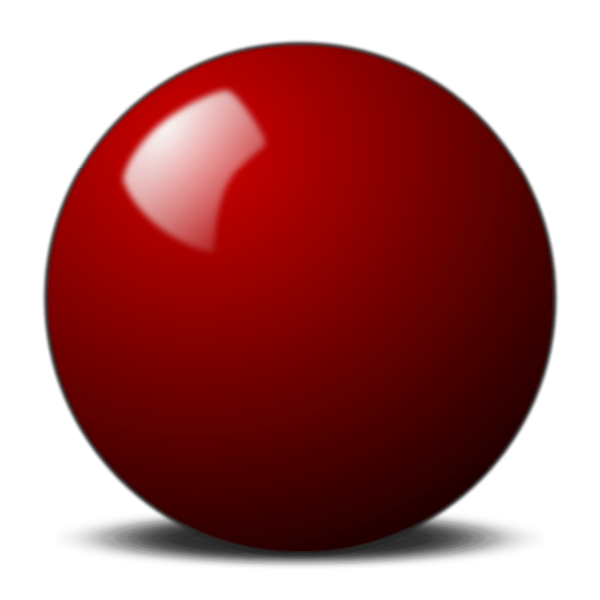 Red snooker ball