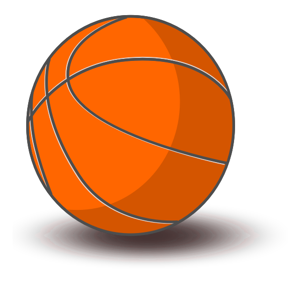Basketball vector drawing