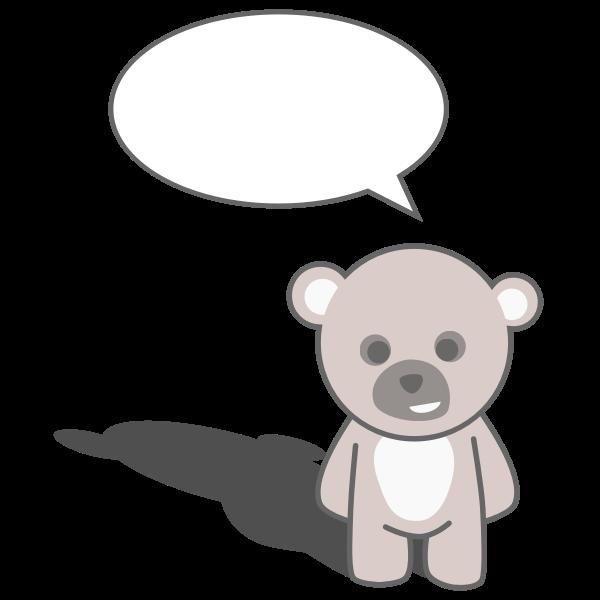 Talking teddy bear vector clip art