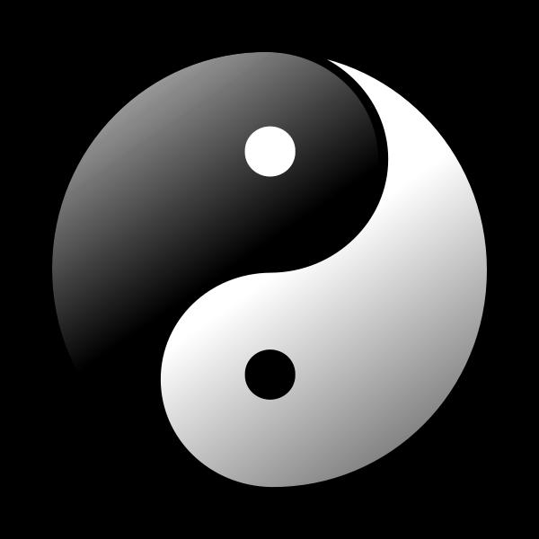 Yin-Yang vector illustration