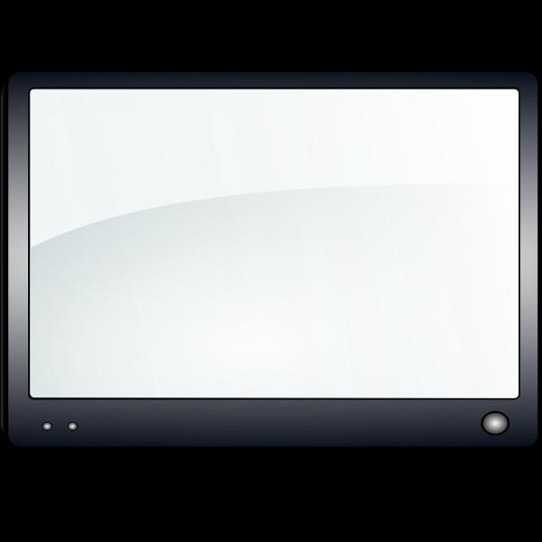 Glossy TV vector clip at