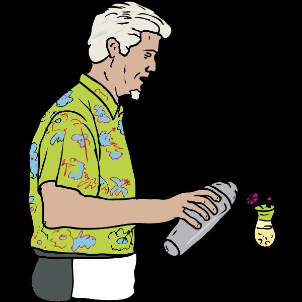 Bartender vector illustration
