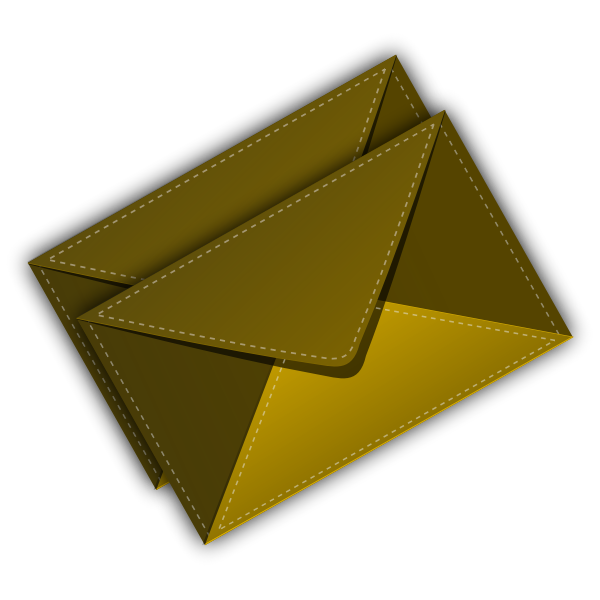 Envelop (Stiched) vector image