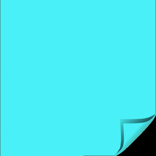 Blue square sticker vector image