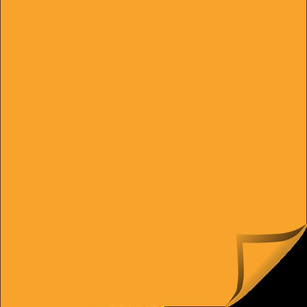 Orange sticky note