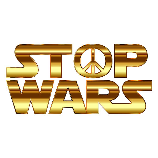 Stop Wars Gold Deeper Color Without Background