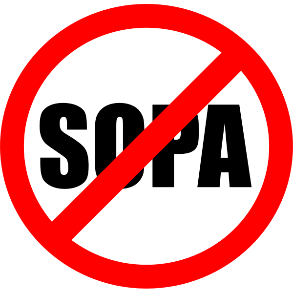 Stop Online Piracy Act sign vector image