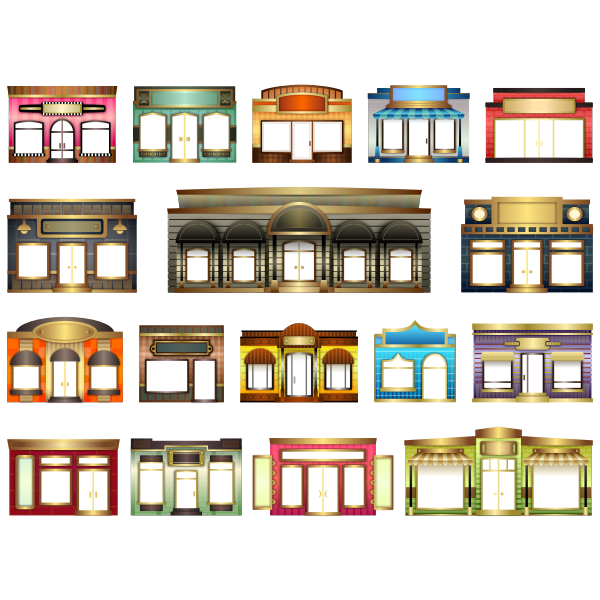 Store front collection vector image