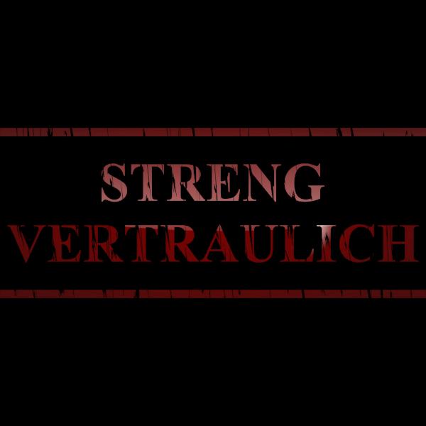 ''Streng Vertraulich'' sticker vector clip art