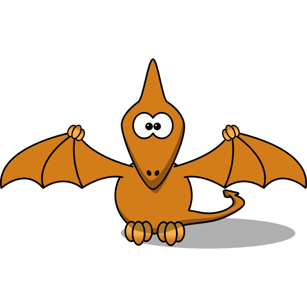 Cartoon pterodactyl