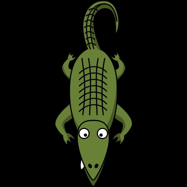 Vector clip art of cartoon alligator