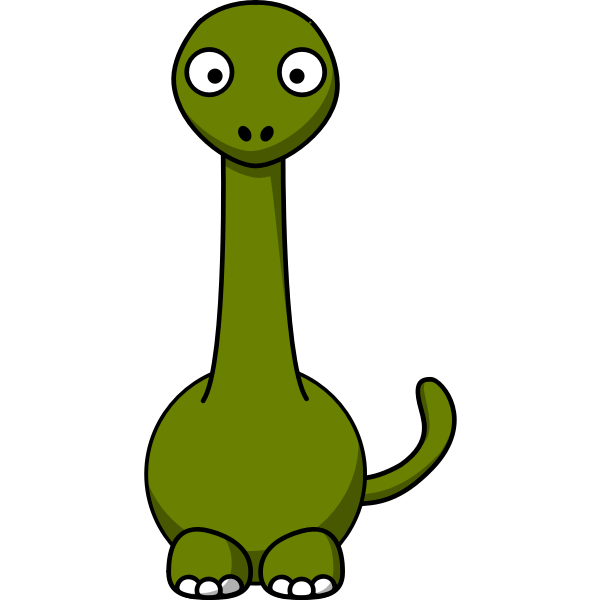 Cartoon image of a dinosaur