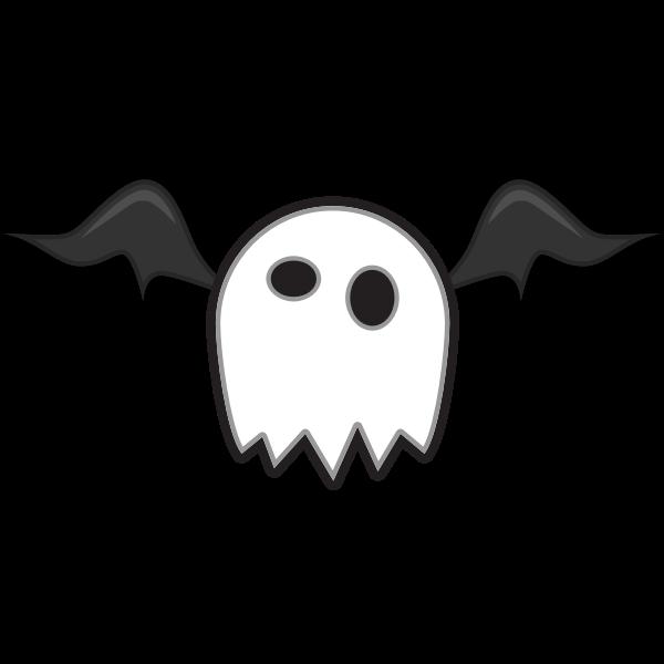 Vector clip art of white cartoon creature