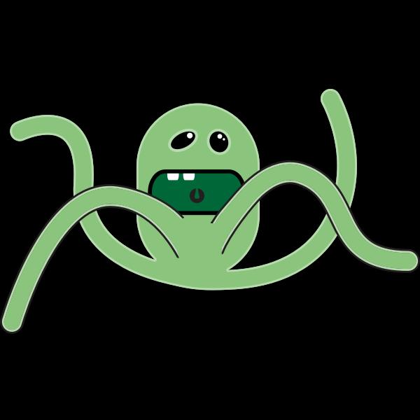 Vector image of green cartoon creature