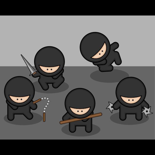 Cartoon ninjas
