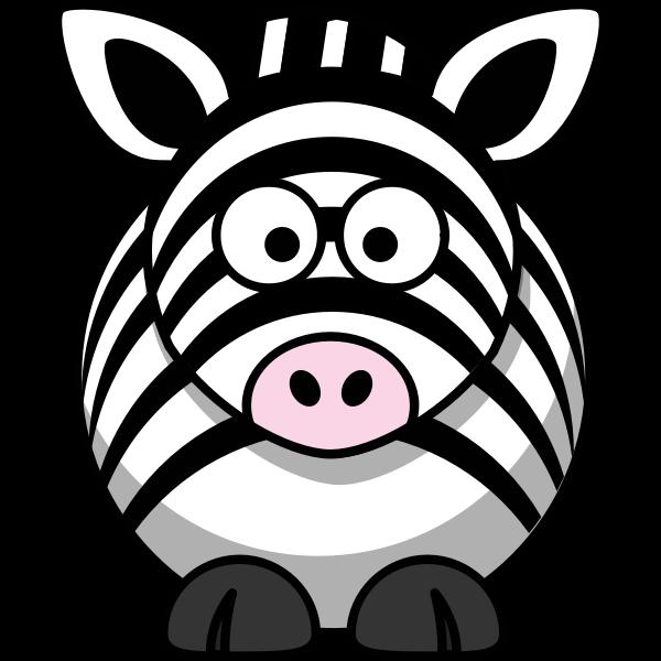 Vector image of cartoon zebra