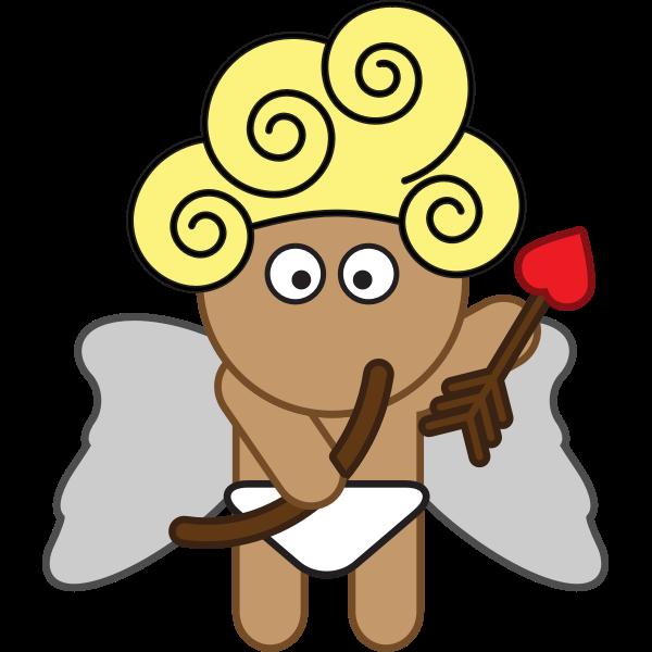 Cartoon Cupid vector clip art