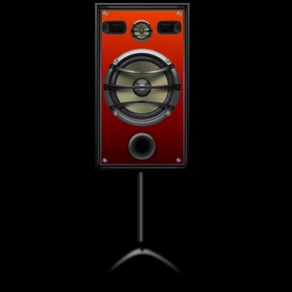 Studio speaker on a stand vector image