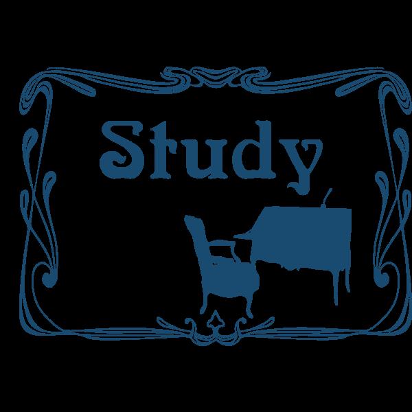 Study room door sign vector image