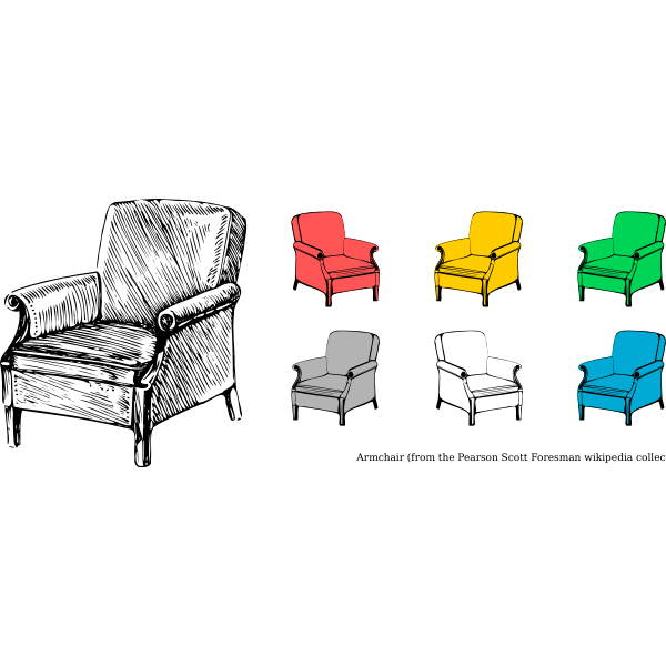 Clip art of armchairs collection