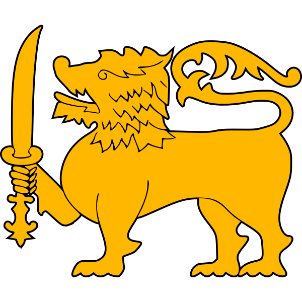 Stylized golden lion