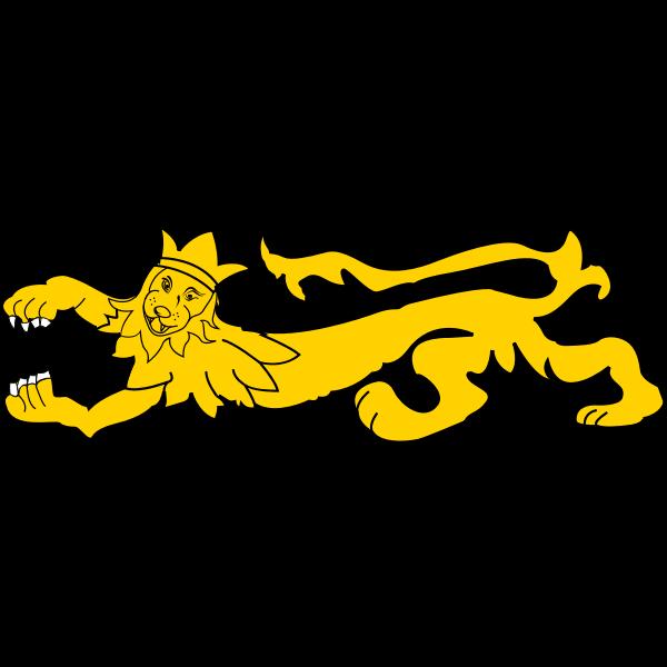 Yellow long lion