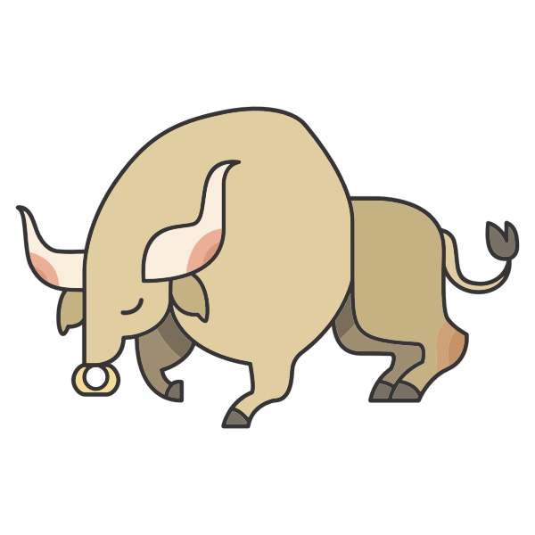 Stylized Cartoon Bull