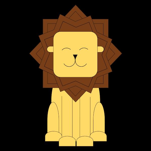 Stylized Cartoon Lion