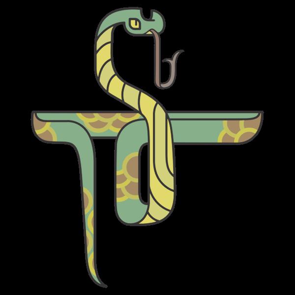 Stylized Cartoon Snake