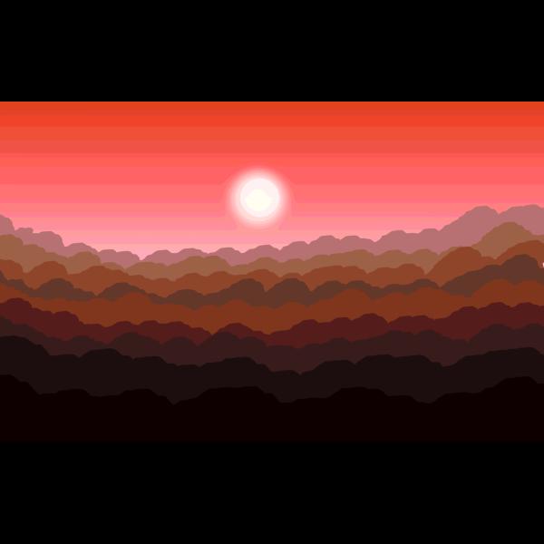 Stylized Sunset Illustration