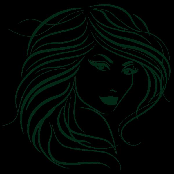 Stylized Womans Hair
