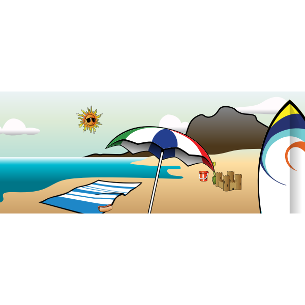 Summer at beach vector image