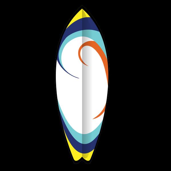 Summer surfboard vector image