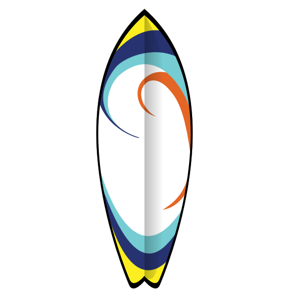 Summer surfboard vector image