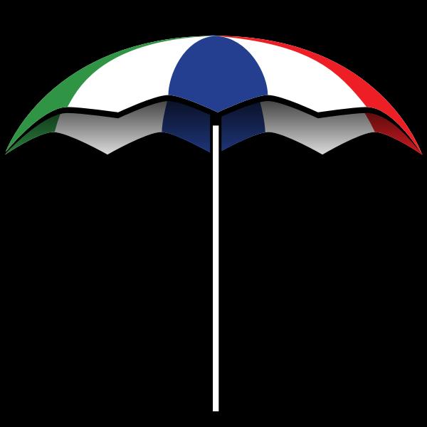Summer umbrella vector illustration