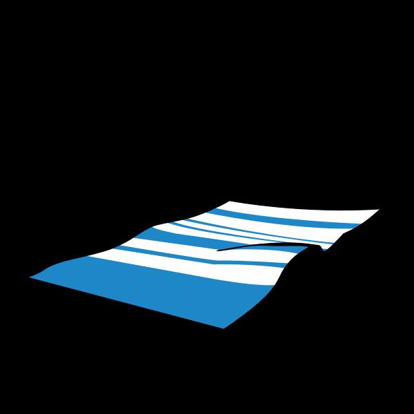 Summer beach towel vector image