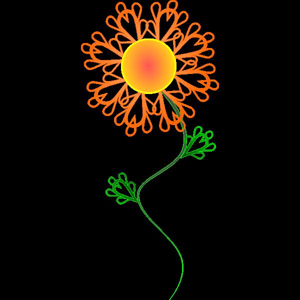 Sunny Crazy Flower