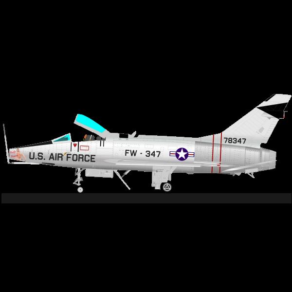 SUPER SABRE F-100 airplane