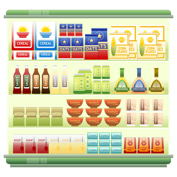 Goods in a store