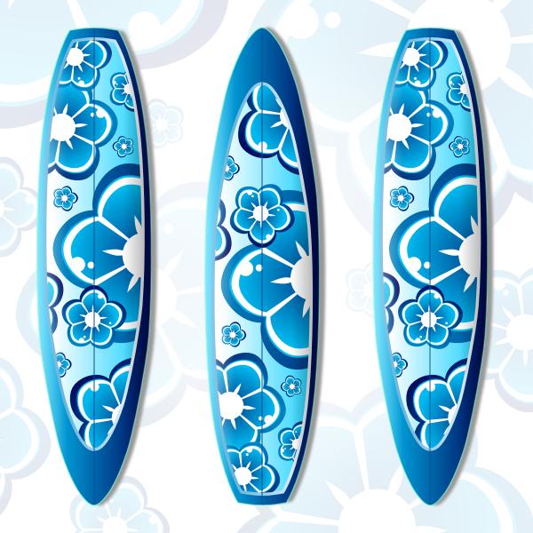 Surfboard vector illustration