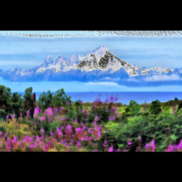 Surreal Alaskan wilderness