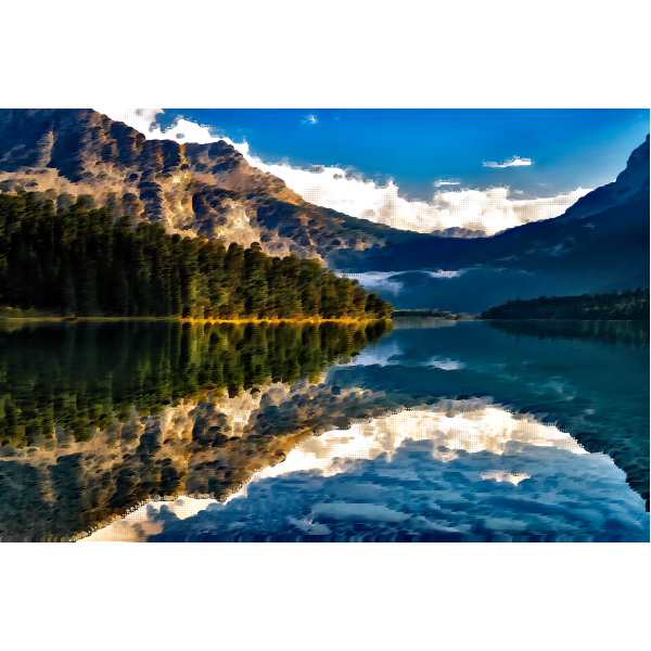 Surreal Canadian lake