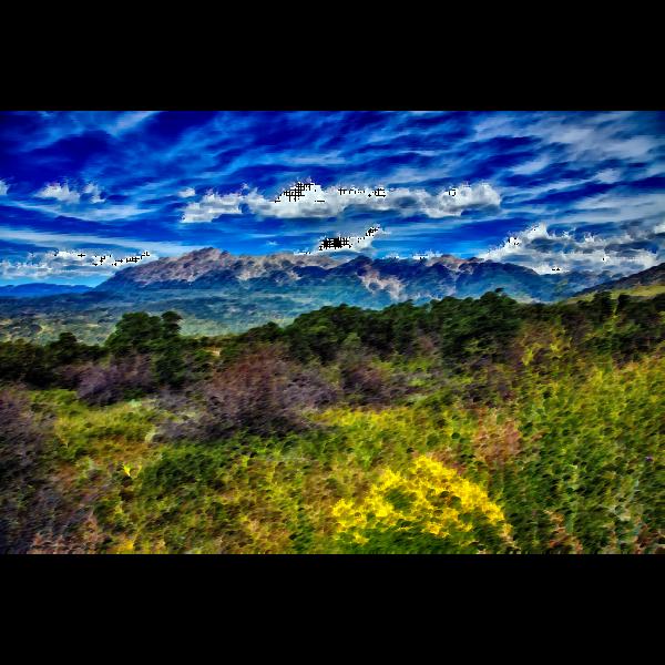 Surreal Colorado landscape