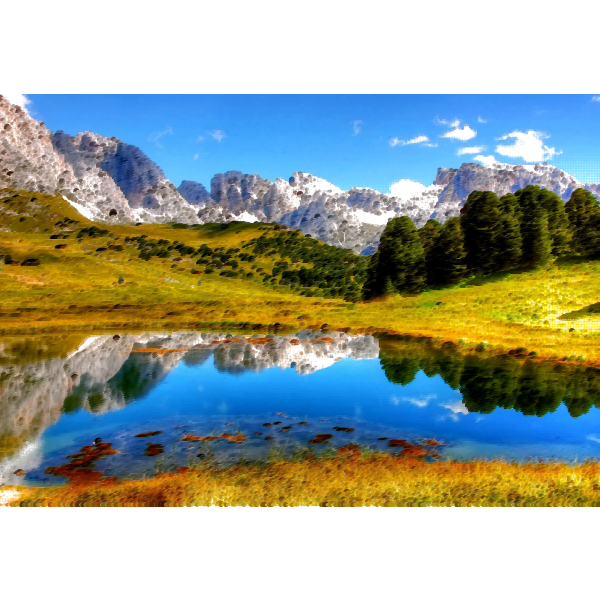 Surreal Italian Alps