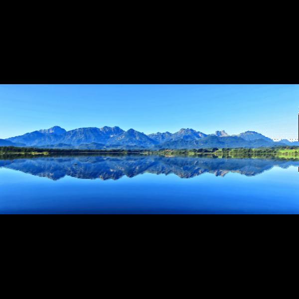 Surreal lake reflection